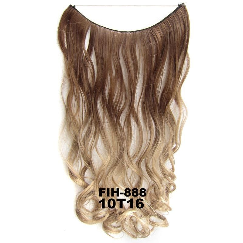 "22"" Hidden Invisible Dip Dye Ombre Wire Secret Miracle Hair Extension Body Wave 7"