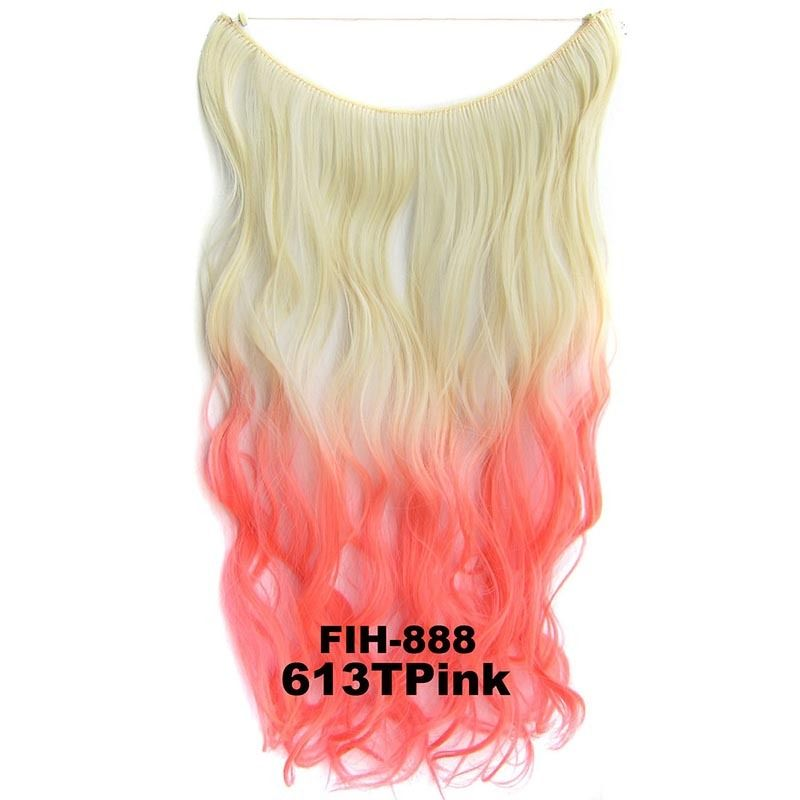 "22"" Hidden Invisible Dip Dye Ombre Wire Secret Miracle Hair Extension Body Wave 9"
