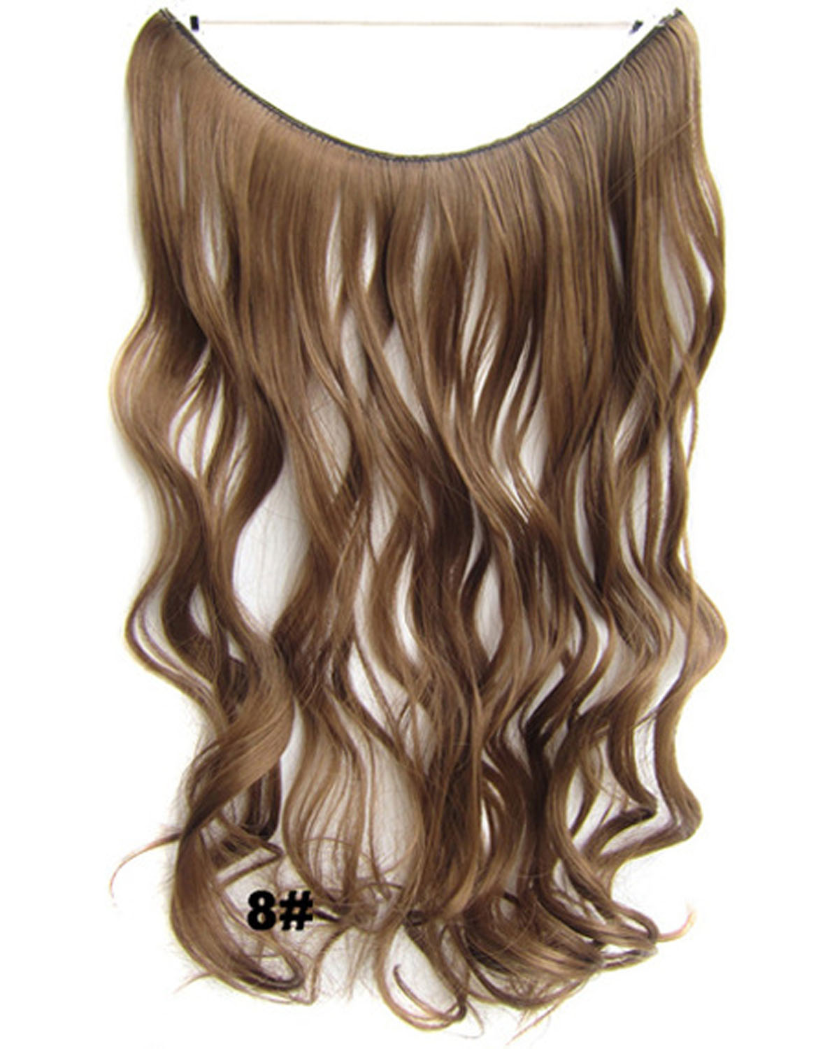 22 Inch Brifgt Curly and Long Miracle One Piece Miracle Wire Flip in Synthetic Hair Extension 8#
