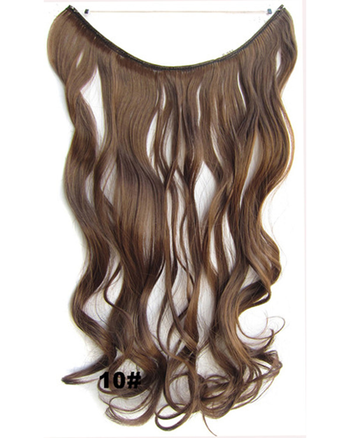 22 Inch Exquisite Curly and Long One Piece Miracle Wire Flip in Synthetic Hair Extension10#