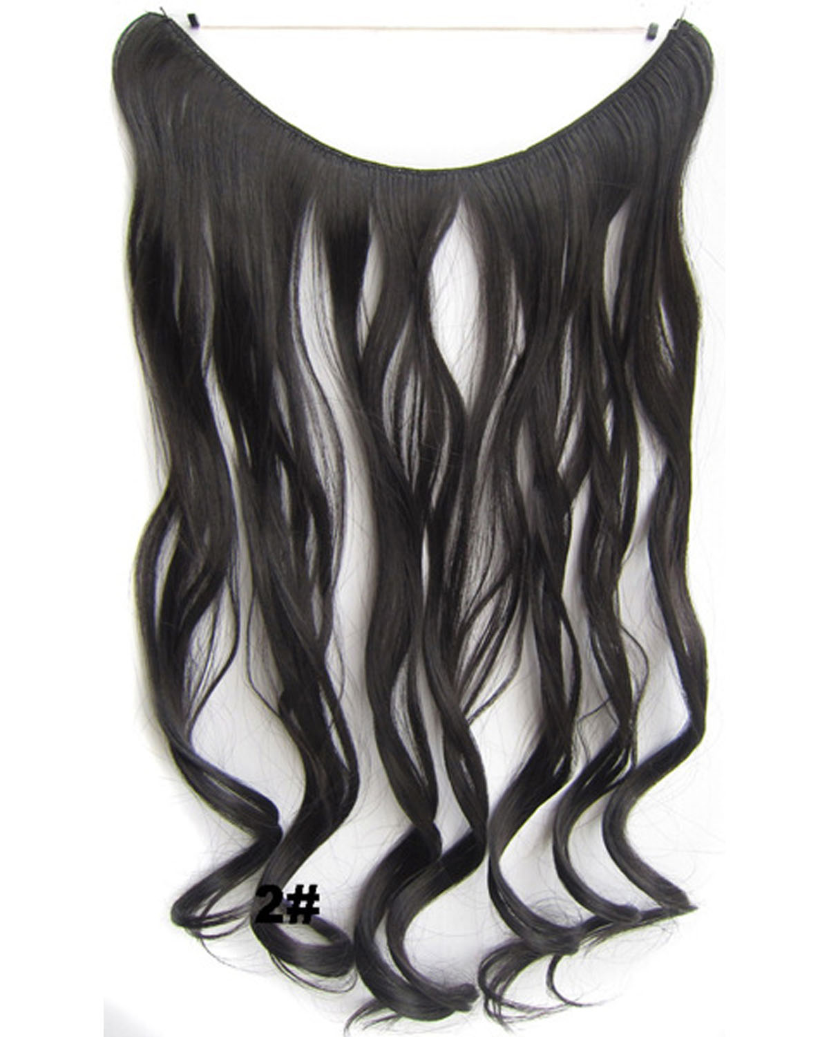 22 Inch Graceful Curly and Long Miracle One Piece Miracle Wire Flip in Synthetic Hair Extension 2#