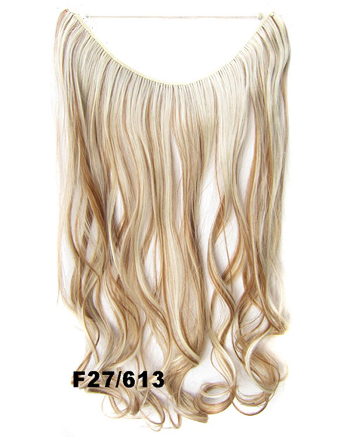 22 Inch High Quality Curly and Long One Piece Miracle Wire Flip in Synthetic Hair Extension F27/613