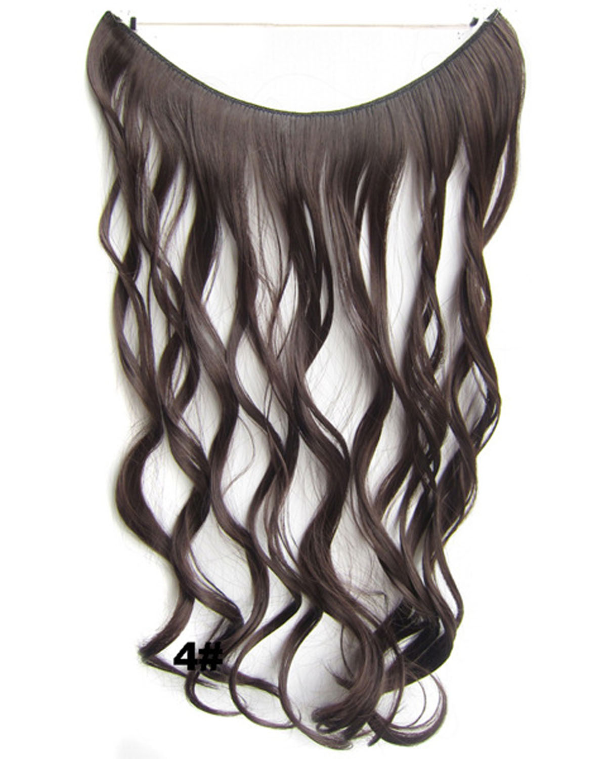 22 Inch Hot-sale Curly and Long One Piece Miracle Wire Flip in Synthetic Hair Extension 4#