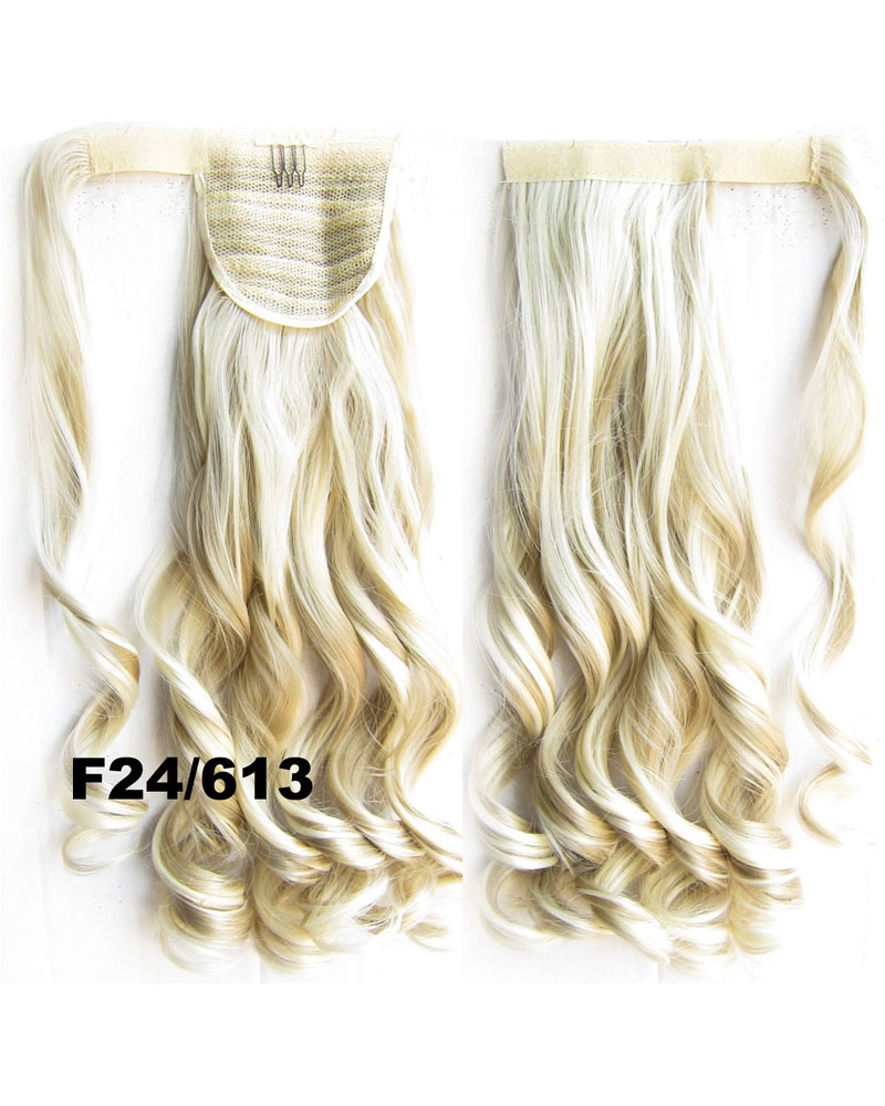 22 Inch Hot-sale Newly Curly and Long Wrap Around Synthetic Hair Ponytail F24/613