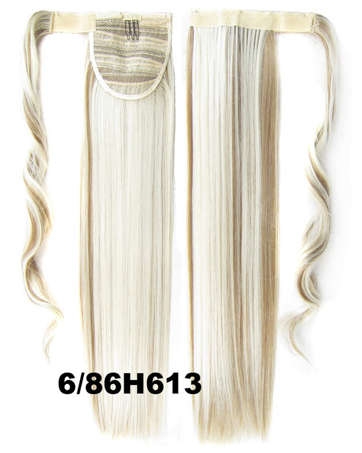 22 Inch Lady Attractive Straight and Long Wrap Around Synthetic Hair Ponytail  6/86H613#