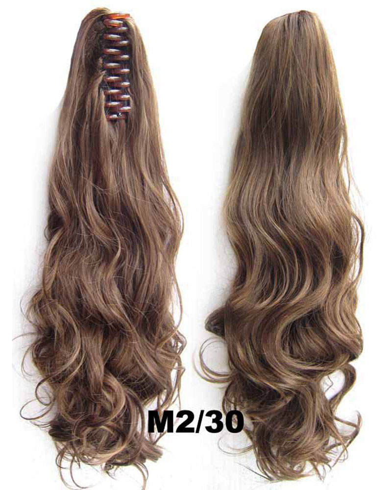 22 Inch Lady Body Wave Classic Curly and Long Claw Chip Synthetic Hair Ponytail M2/30