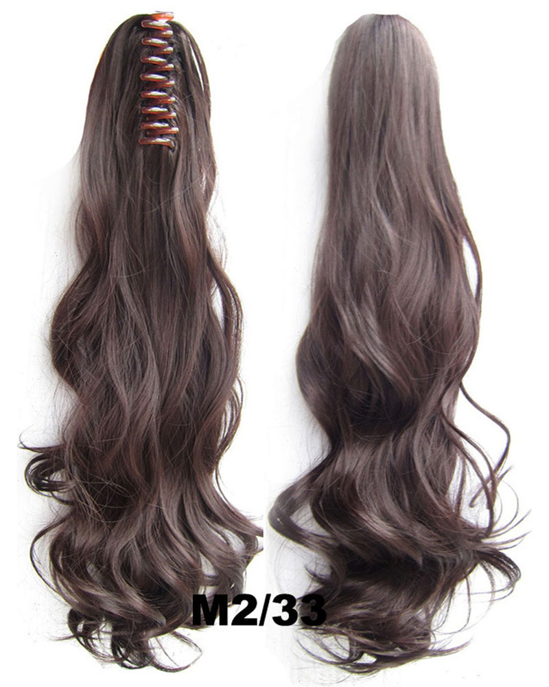 22 Inch Lady Body Wave Good Quality Curly and Long Claw Chip Synthetic Hair Ponytail  M2/33