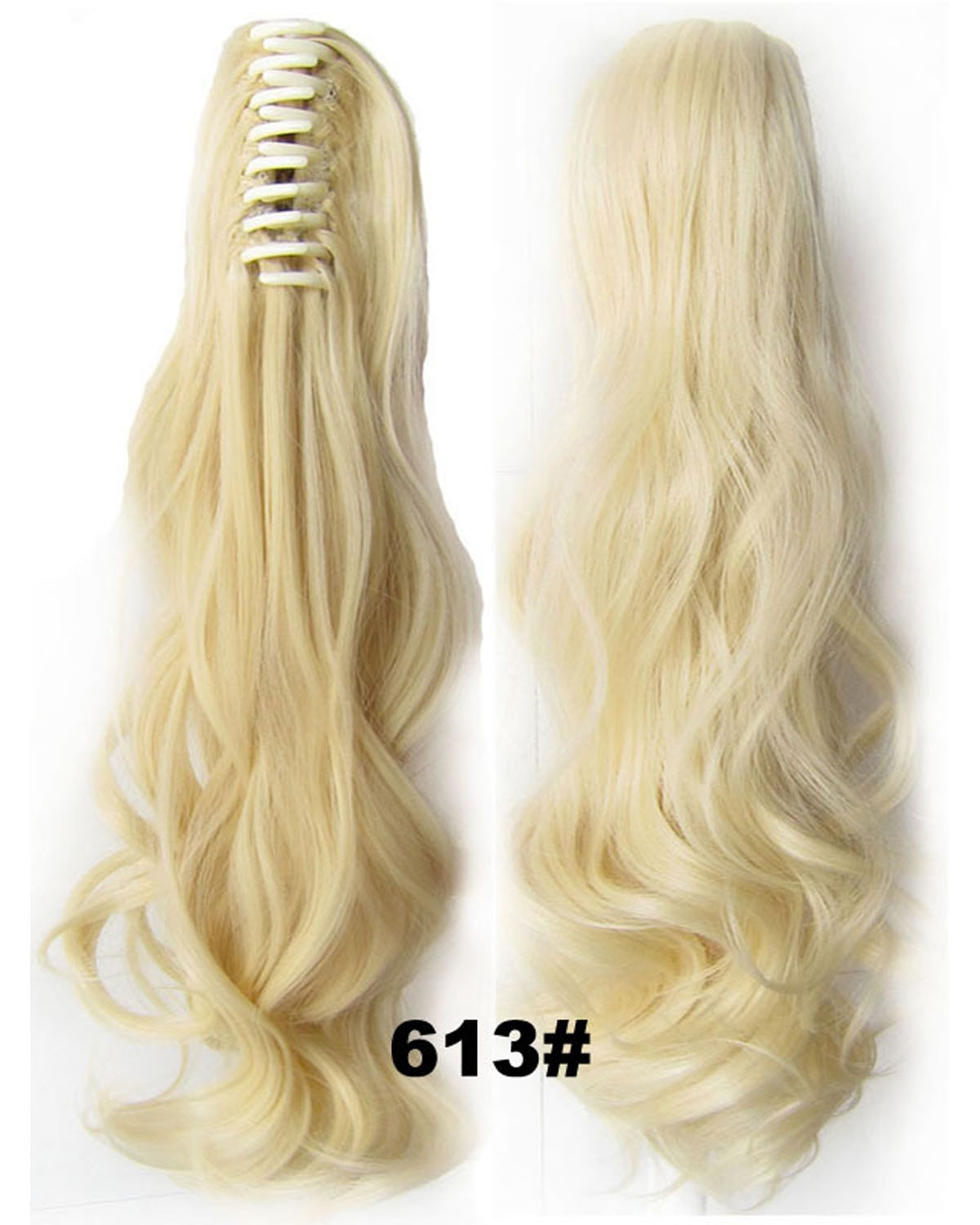 22 Inch Lady Body Wave Graceful Curly and Long Claw Chip Synthetic Hair Ponytail  613#