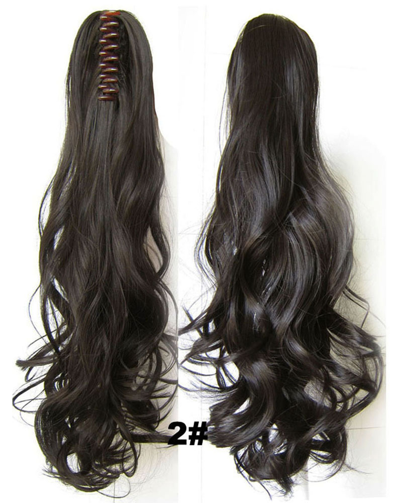 22 Inch Lady Body Wave Salable Curly and Long Claw Chip Synthetic Hair Ponytail 2#