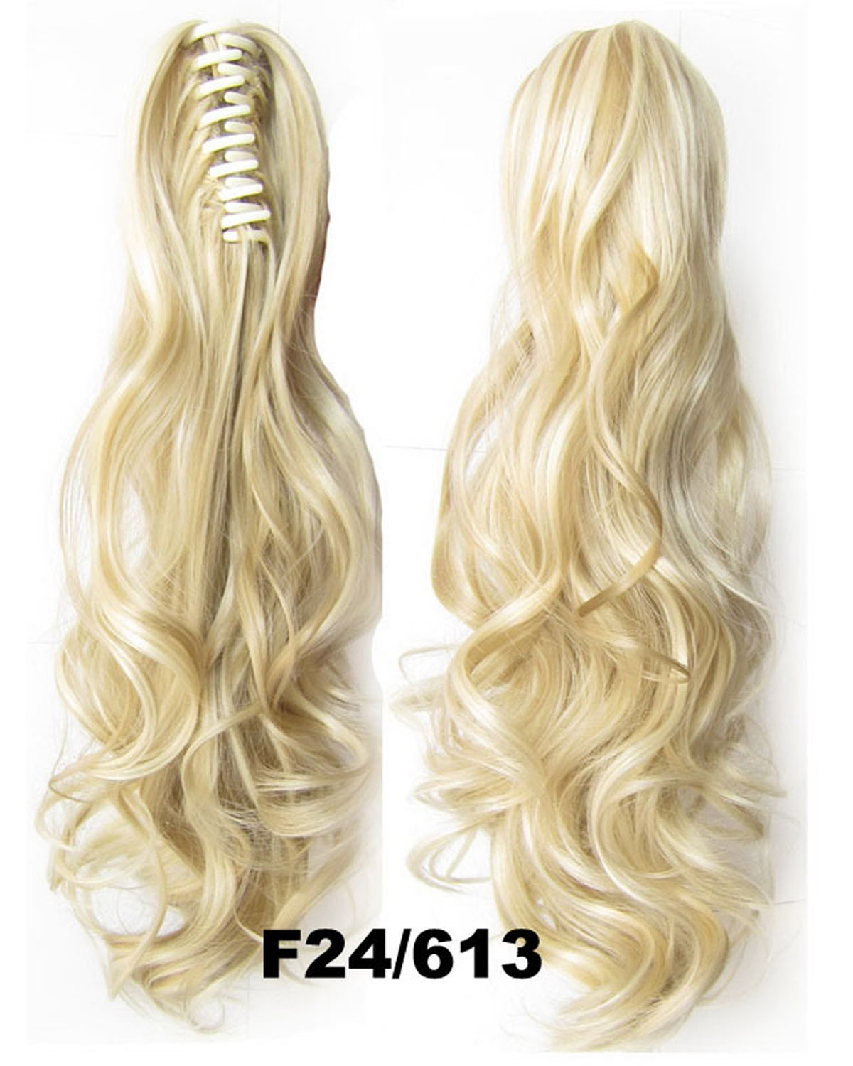22 Inch Lady Body Wave Stunning Curly and Long Claw Chip Synthetic Hair Ponytail F24/613