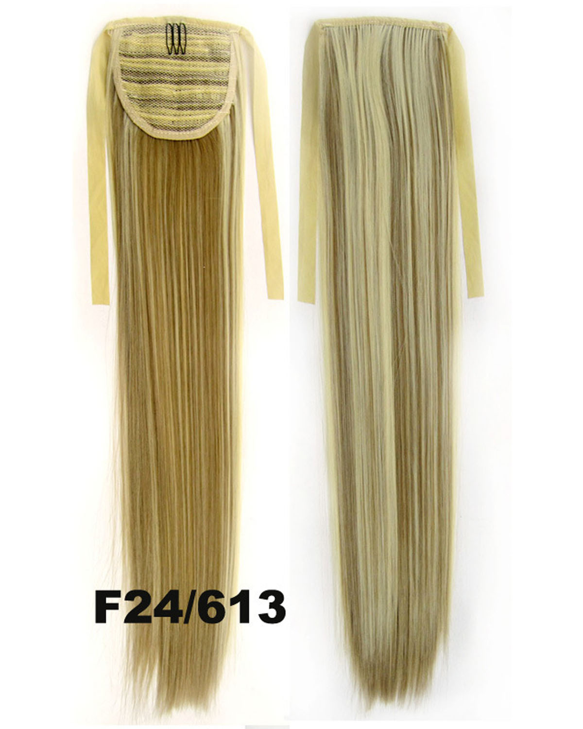 22 Inch Lady Bright Straight and Long Lace/Ribbon Synthetic Hair Ponytail F24/613#