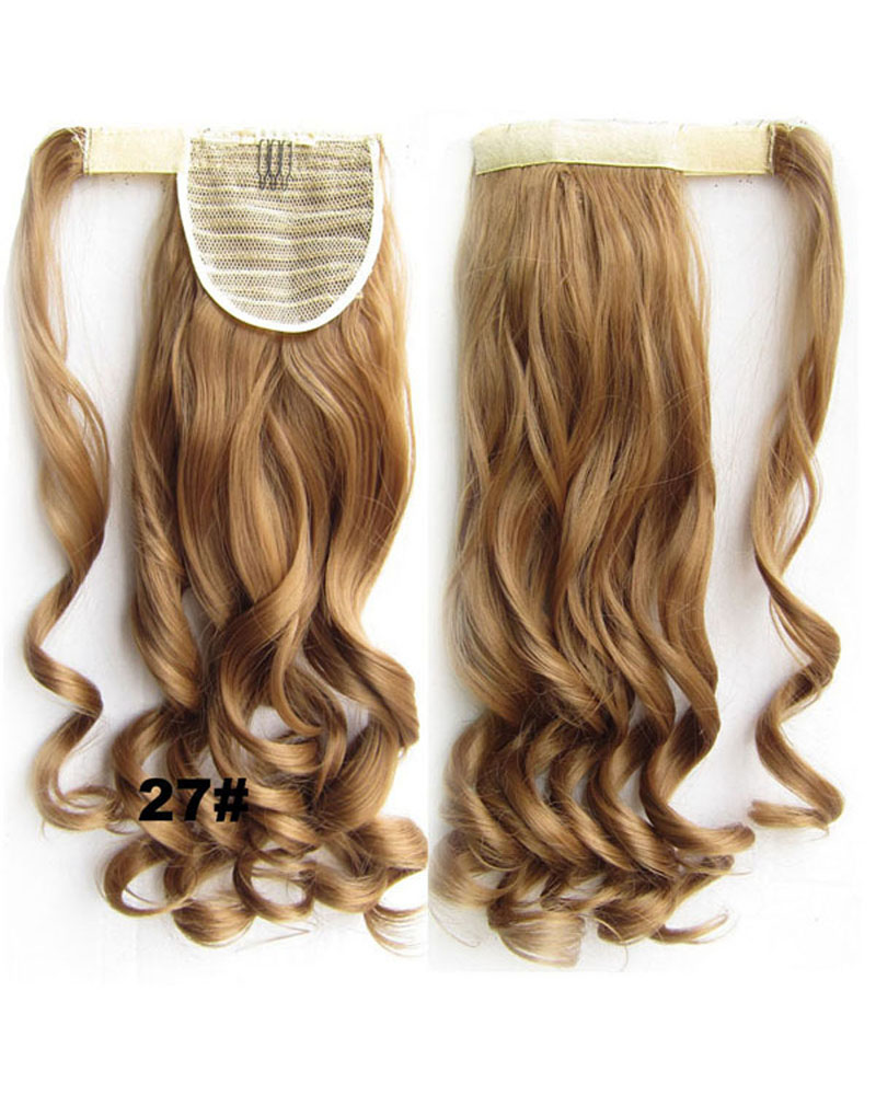 22 Inch Lady Charismatic Curly and Long Wrap Around Synthetic Hair Ponytail  27#