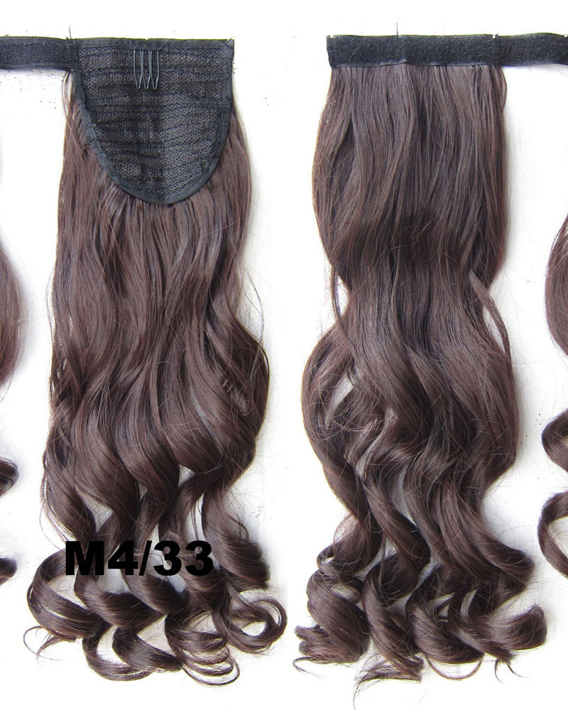 22 Inch Lady Classic Curly and Long Wrap Around Synthetic Hair Ponytail M4/33#