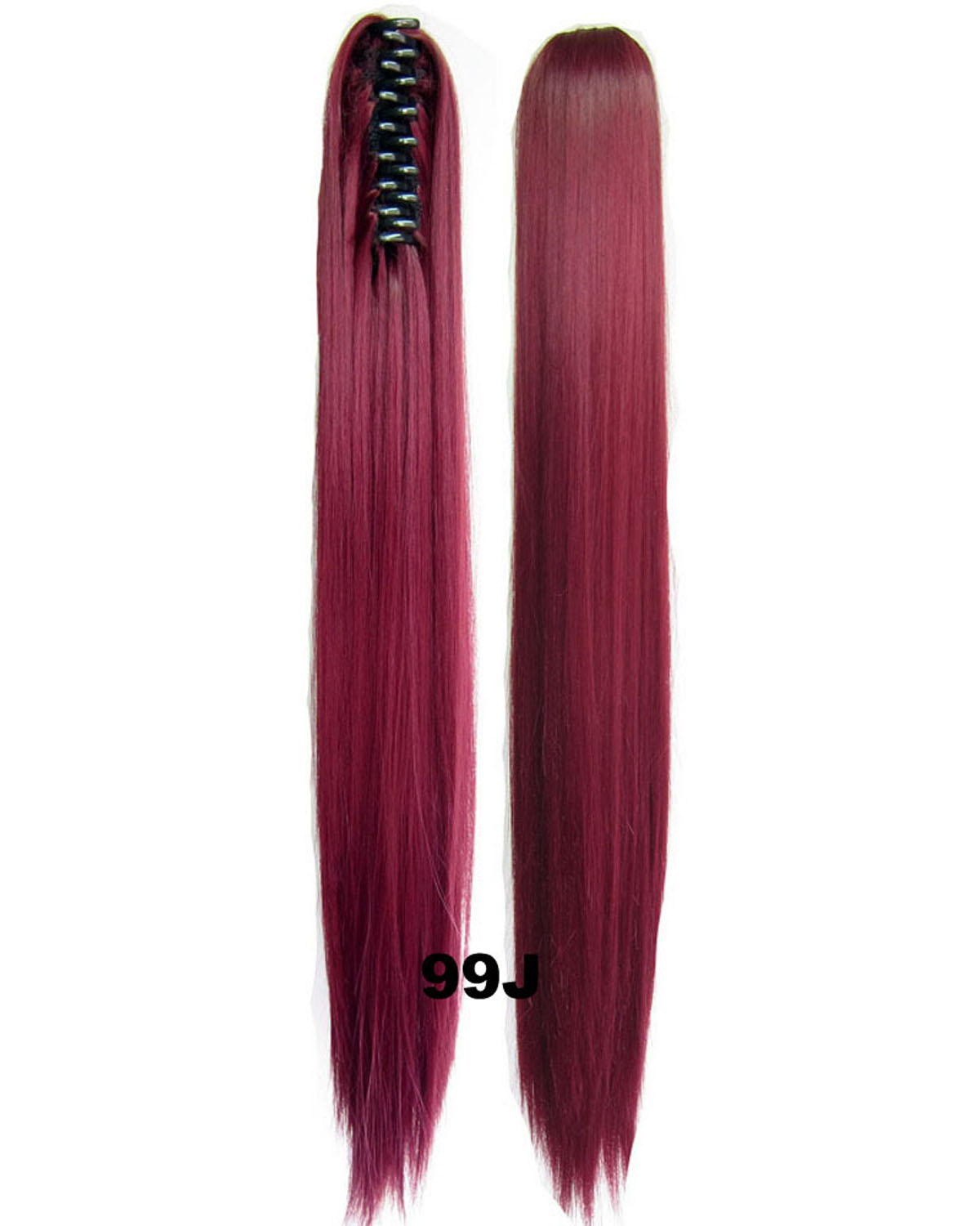 22 Inch Lady Decent Straight and Long Claw Chip Synthetic Hair Ponytail 99J