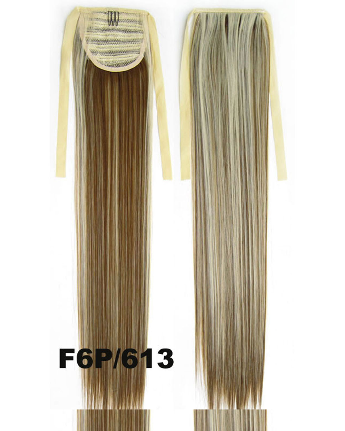 22 Inch Lady Decent Straight and Long Lace/Ribbon Synthetic Hair Ponytail  F6P/613 Clean