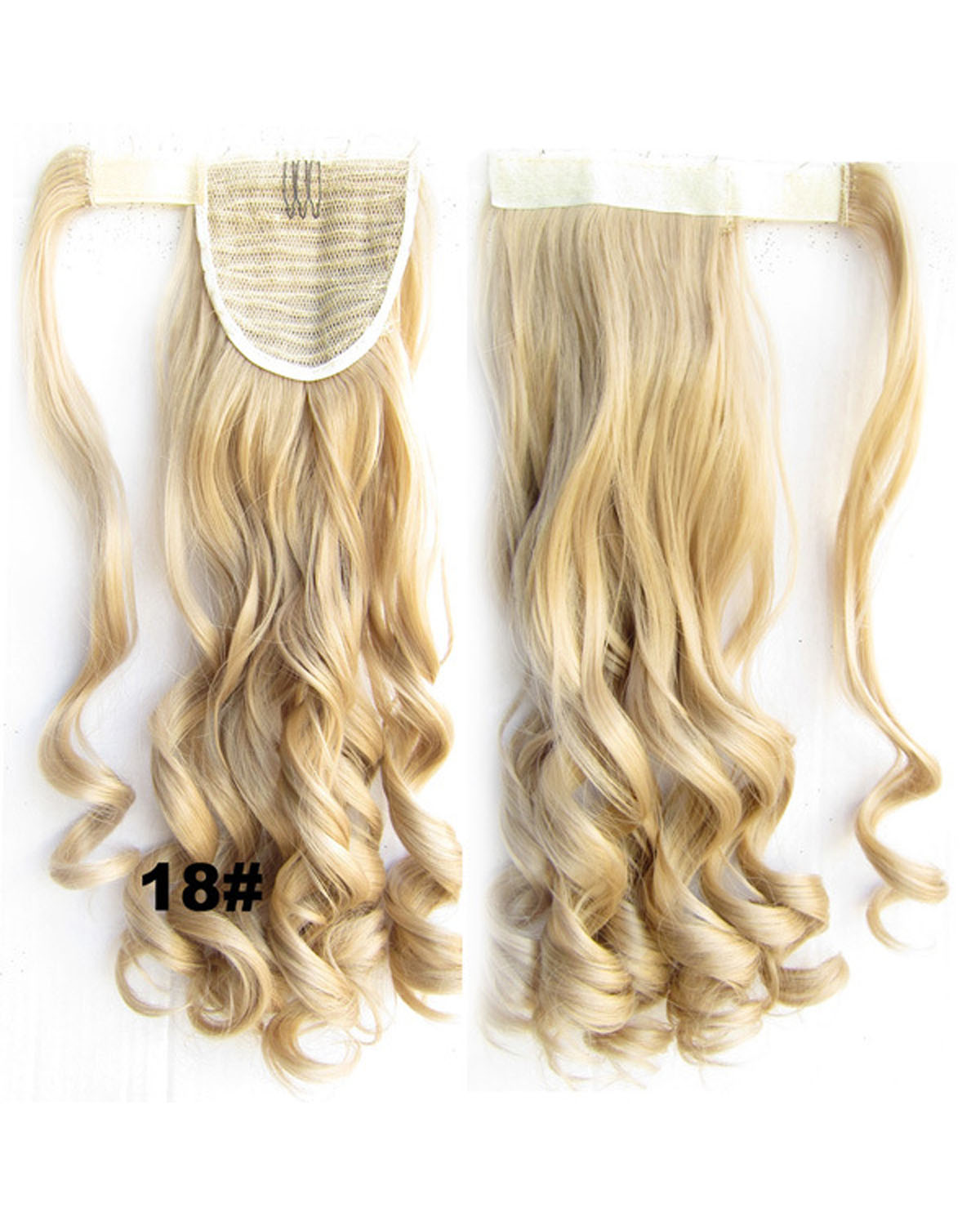22 Inch Lady Delicate Curly and Long Wrap Around Synthetic Hair Ponytail  18#