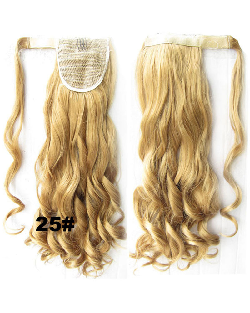 22 Inch Lady Dense Curly and Long Wrap Around Synthetic Hair Ponytail  25#