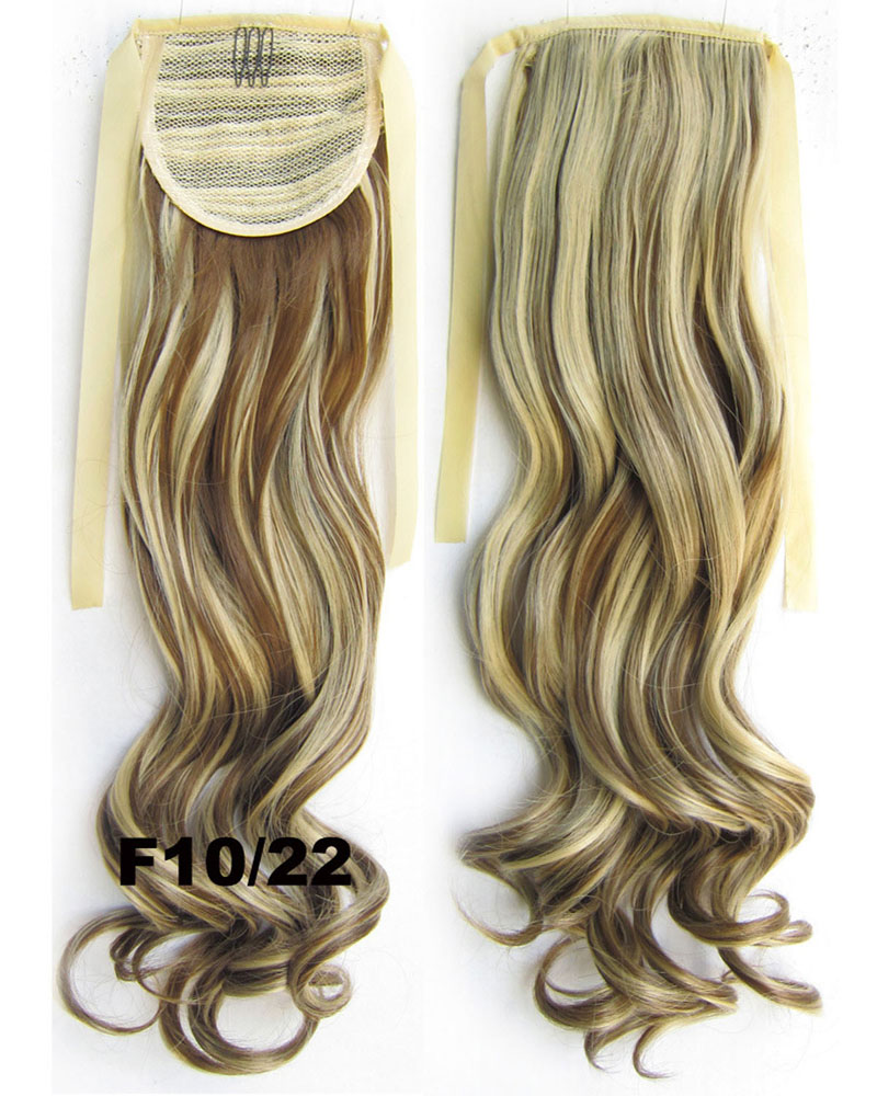 22 Inch Lady Eleborate Curly and Long Lace/Ribbon Synthetic Hair Ponytail F10/2