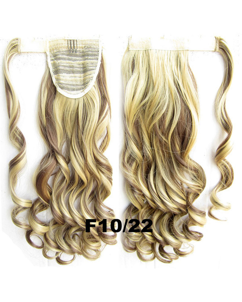 22 Inch Lady Elegant  Curly and Long Wrap Around Synthetic Hair Ponytail F10/22