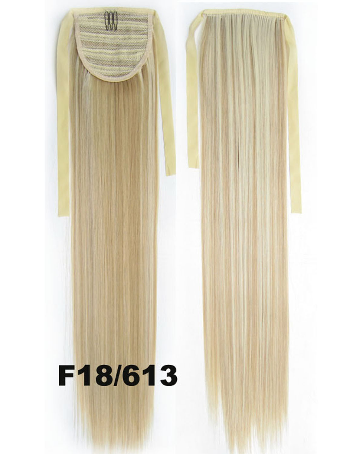 22 Inch Lady Exquisite Straight and Long Lace/Ribbon Synthetic Hair Ponytail F18/613#