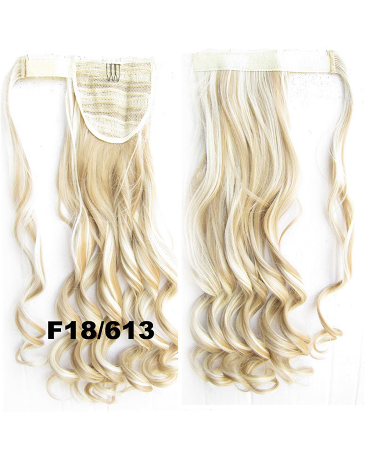 22 Inch Lady Faddish Curly and Long Wrap Around Synthetic Hair Ponytail  F18/613