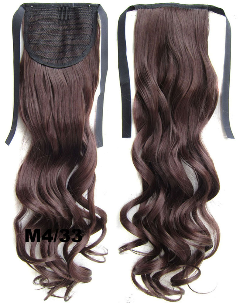 22 Inch Lady Good Quality Curly and Long Lace/Ribbon Synthetic Hair Ponytail M4/33 Clean and Silky