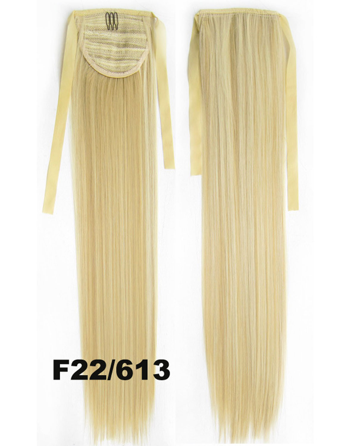 22 Inch Lady Graceful Straight and Long Lace/Ribbon Synthetic Hair Ponytail F22/613
