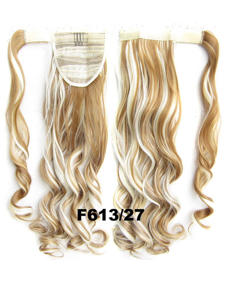 22 Inch Lady Grand Curly and Long Wrap Around Synthetic Hair Ponytail F613/27