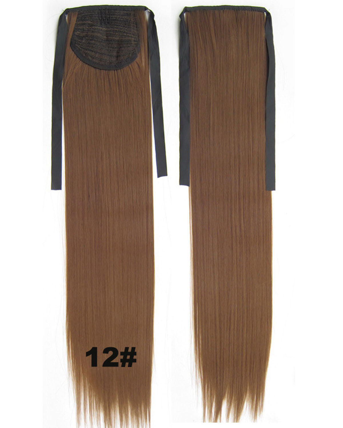 22 Inch Lady High Quality Straight and Long Lace/Ribbon Synthetic Hair Ponytail  12#