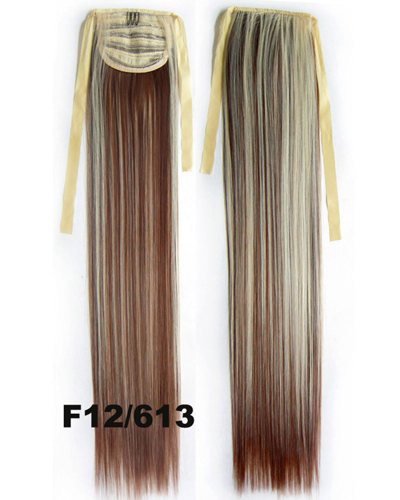 22 Inch Lady Lustrous Straight and Long Lace/Ribbon Synthetic Hair Ponytail F12/613