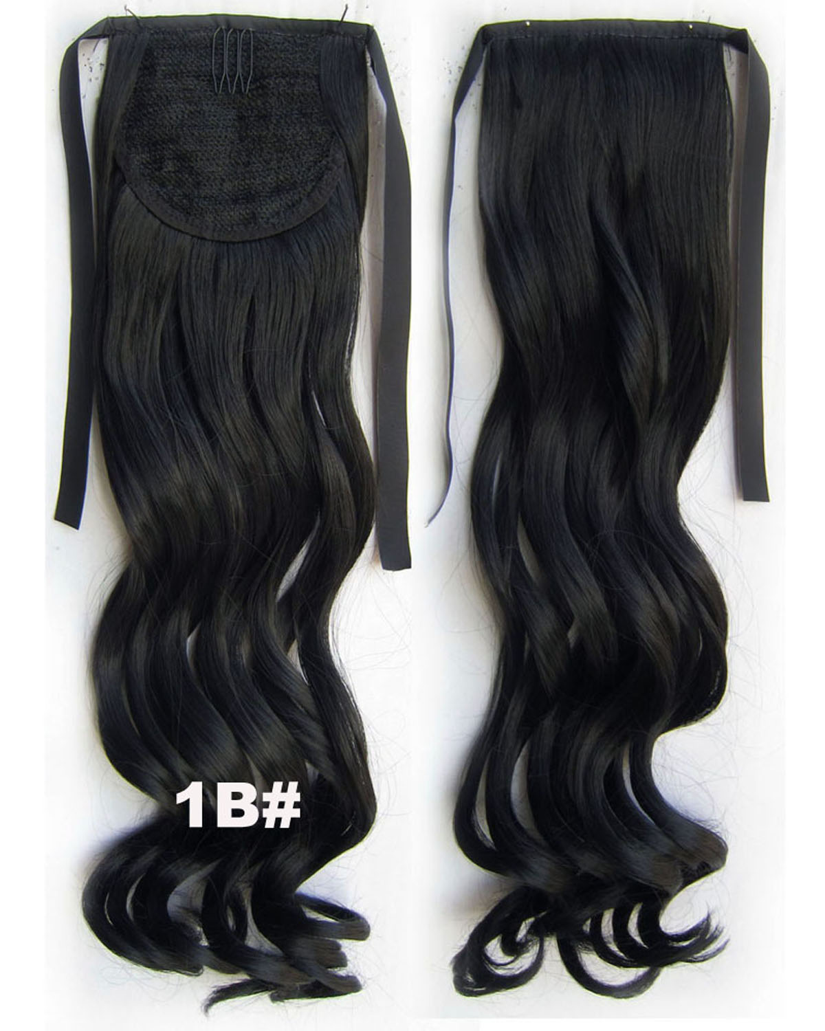 22 Inch Lady Mysterious Curly and Long Lace/Ribbon Synthetic Hair Ponytail1B#