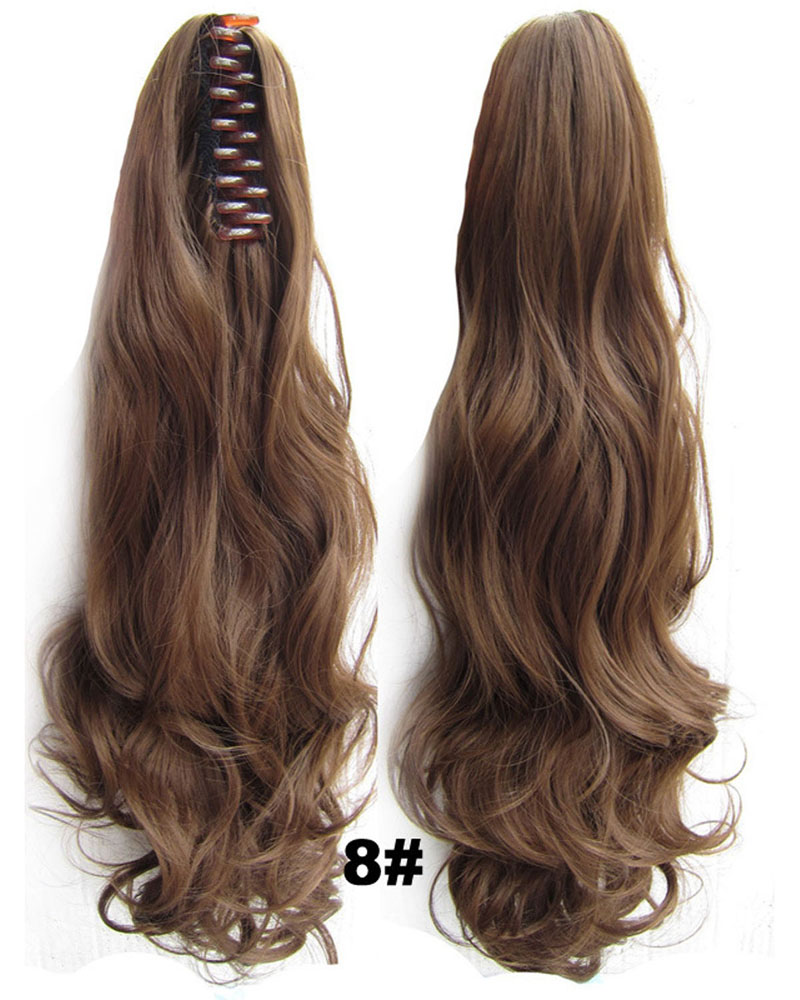 22 Inch Lady Newly Curly and Long Claw Chip Synthetic Hair Ponytail 8#