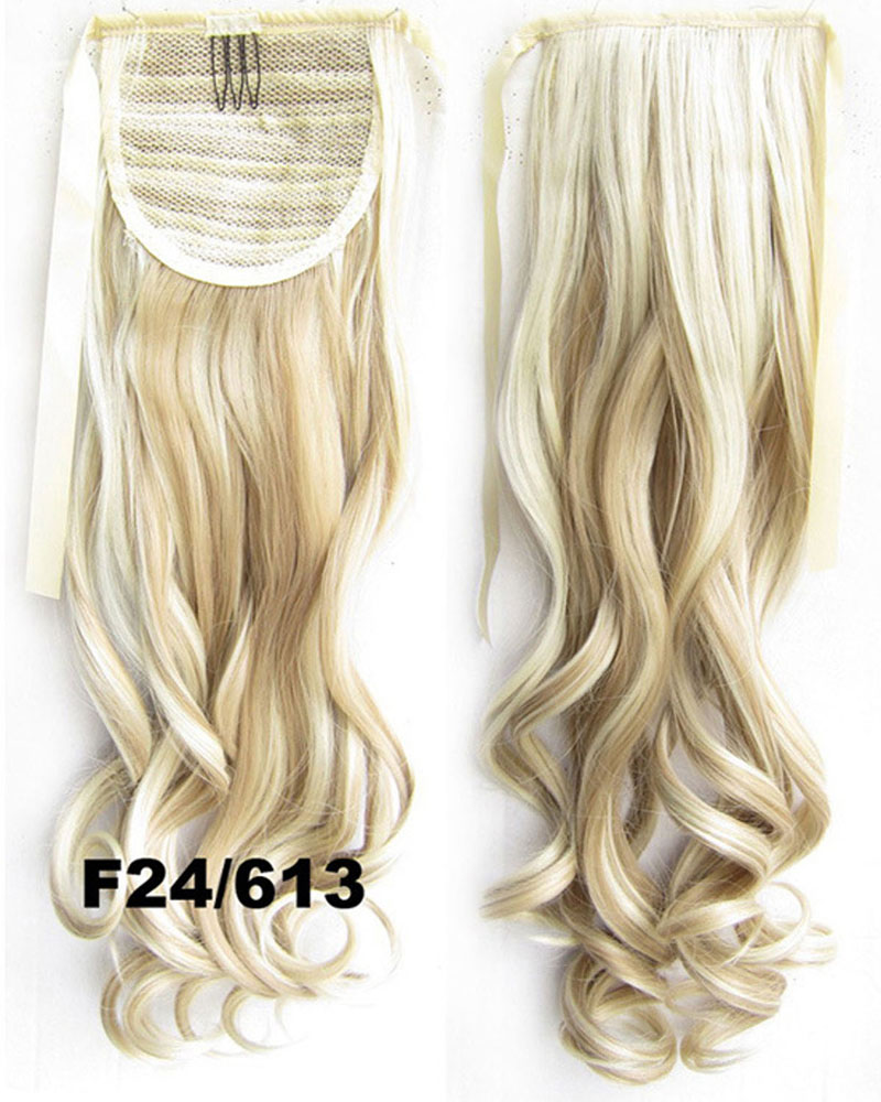 22 Inch Lady Newly Curly and Long Lace/Ribbon Synthetic Hair Ponytail  F24/613 Gorgerous