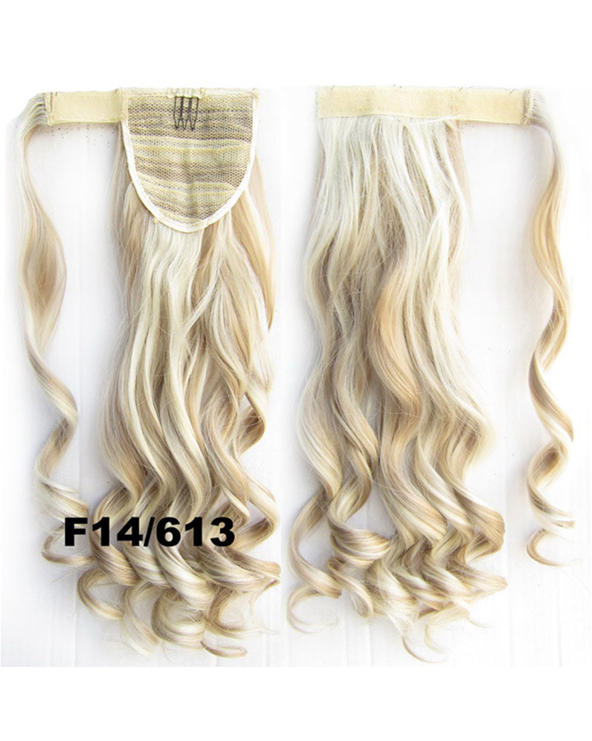 22 Inch Lady Seductive Curly and Long Wrap Around Synthetic Hair Ponytail F14/613