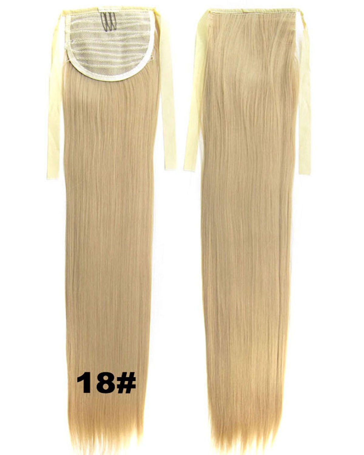 22 Inch Lady Shining Straight and Long Lace/Ribbon Synthetic Hair Ponytail 18#  Great Quality
