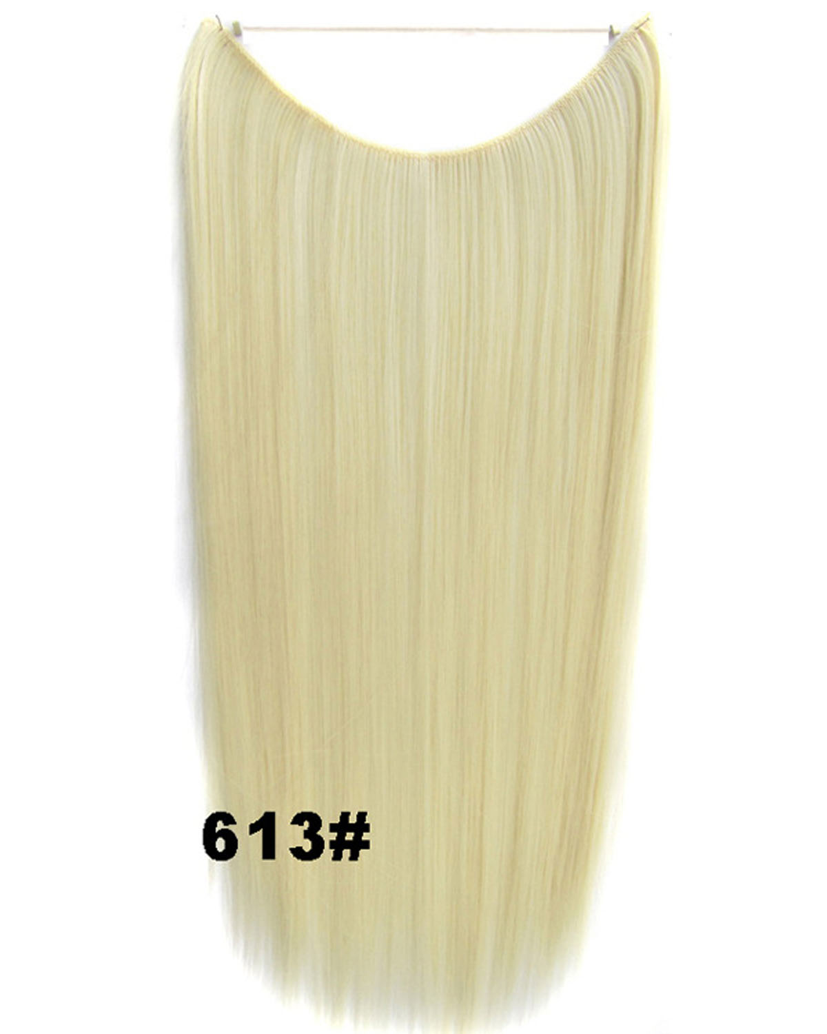 22 Inch Lady Shining Straight long One Piece Miracle Wire Flip in Synthetic Hair Extension613#