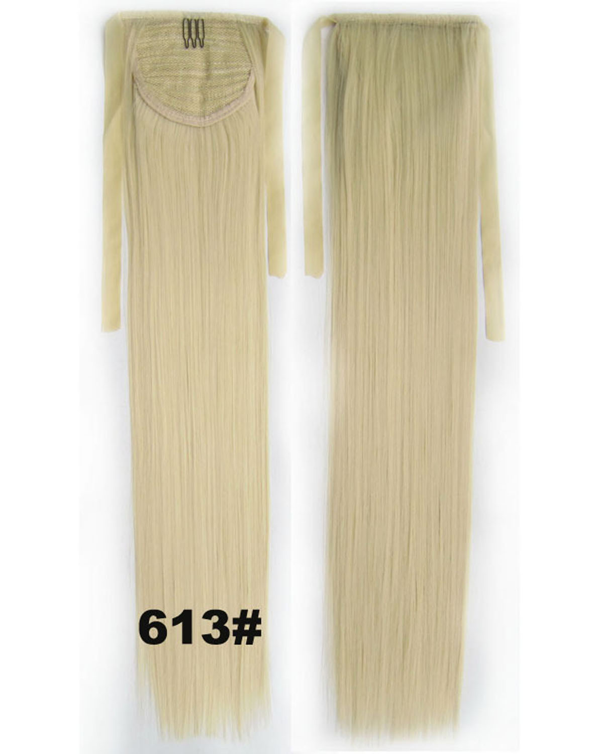 22 Inch Lady Silky Straight and Long Lace/Ribbon Synthetic Hair Ponytail 613#