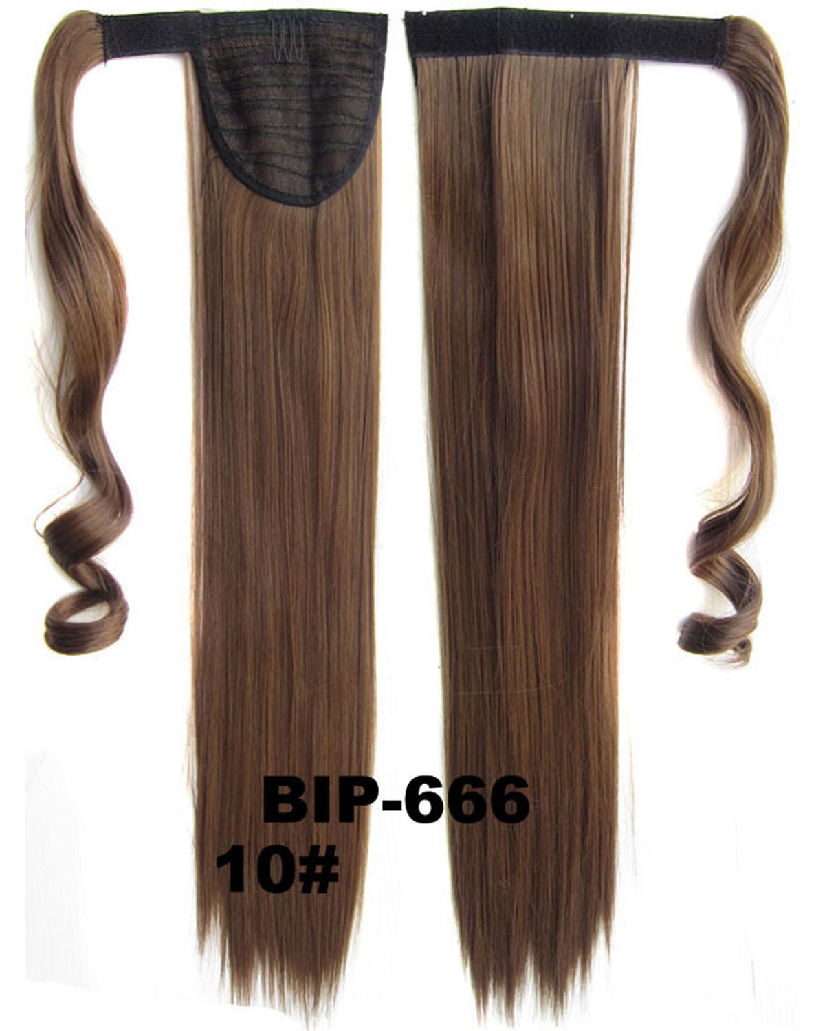 22 Inch Lady Silky Straight and Long Wrap Around Synthetic Hair Ponytail  10# Great Quality