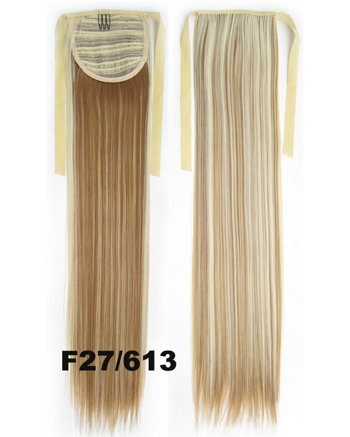 22 Inch Lady Smooth Straight and Long Lace/Ribbon Synthetic Hair Ponytail F27/613