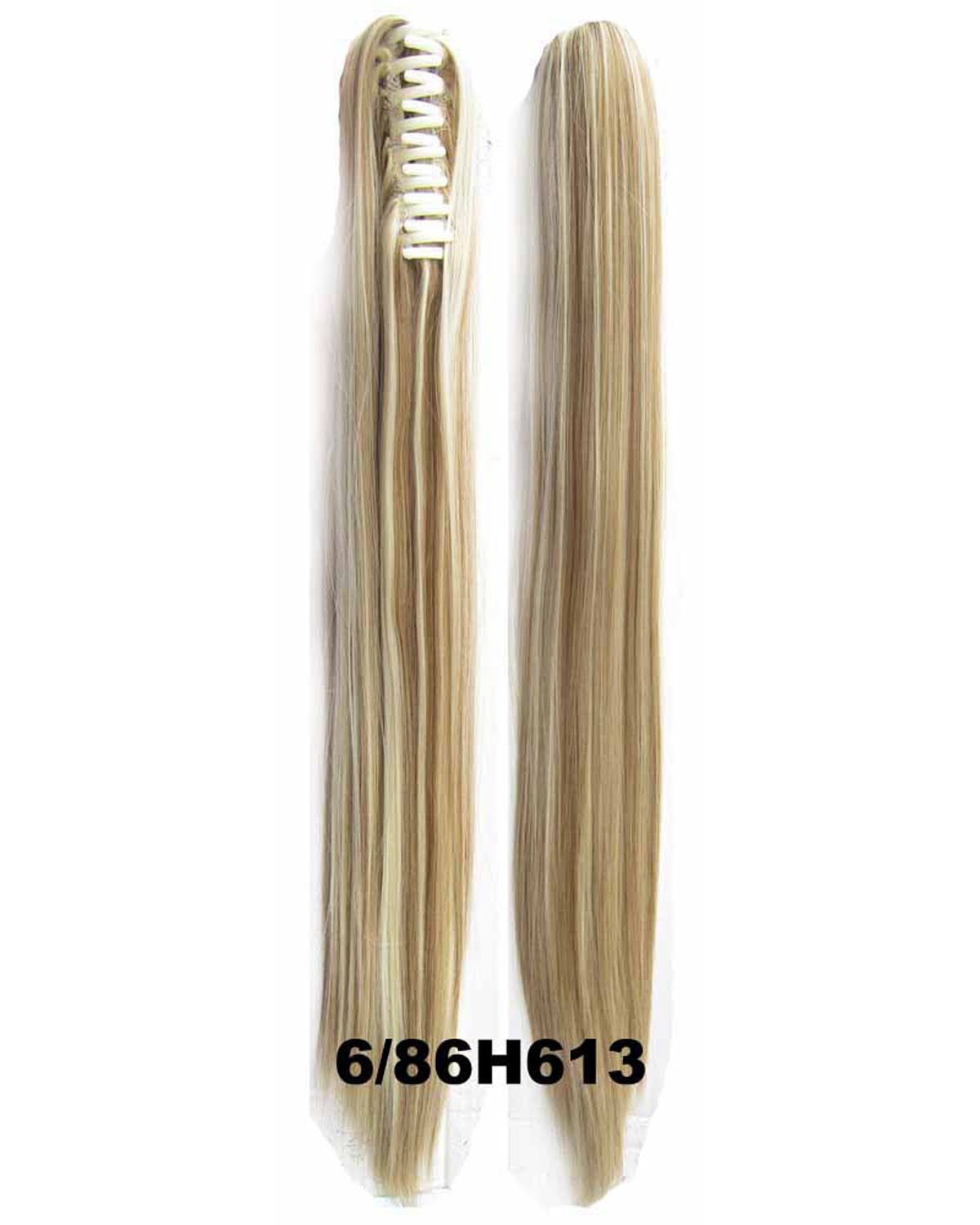 22 Inch Lady Straight and Long Claw Chip Synthetic Hair Ponytail  6/86H613 Shining and Clean