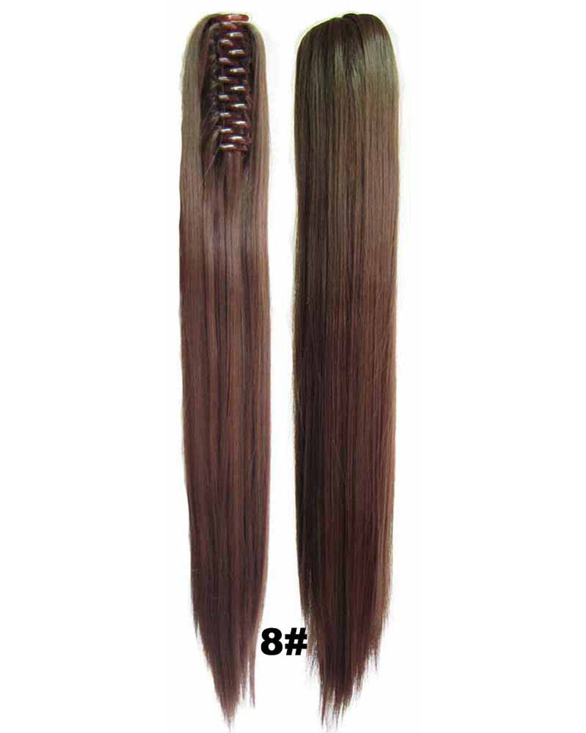 22 Inch Lady Straight and Long Claw Chip Synthetic Hair Ponytail 8#  Comfortable and Popular