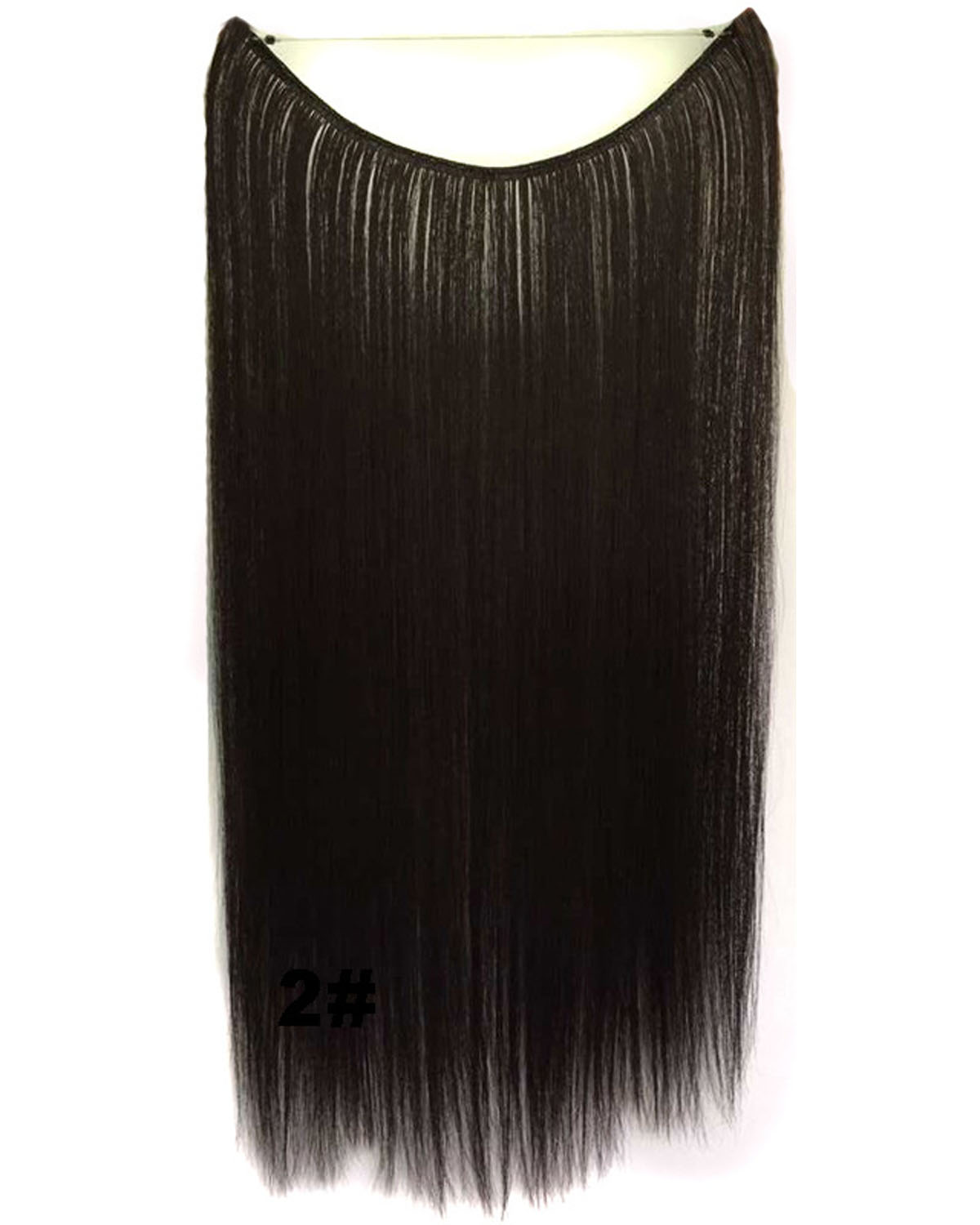 22 Inch Lady Straight long One Piece Miracle Wire Flip in Synthetic Hair Extension 2#