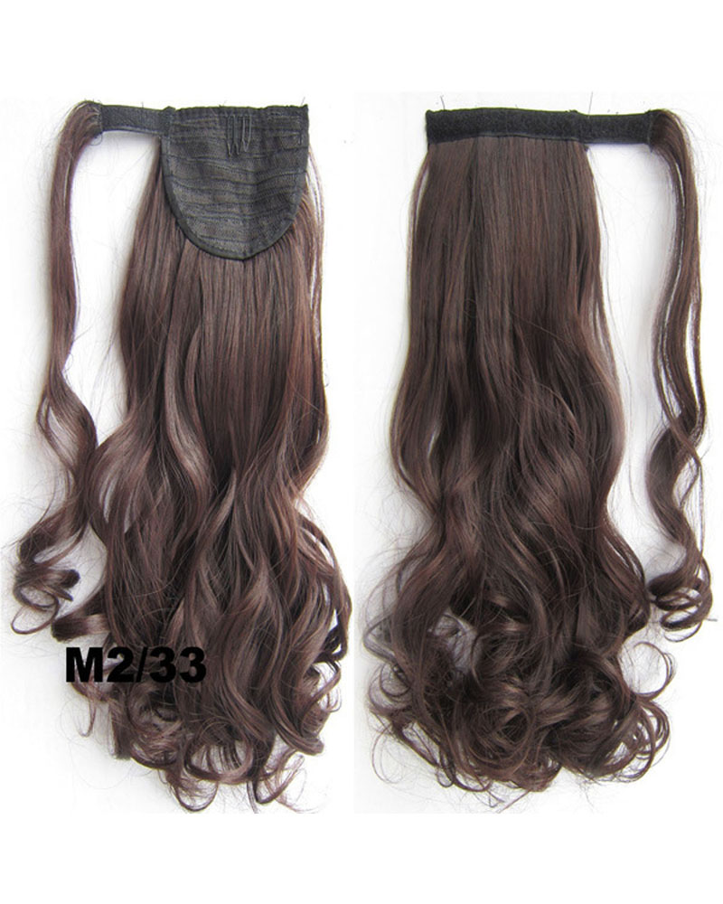 22 Inch Lady Stylish Curly and Long Wrap Around Synthetic Hair Ponytail M2/33