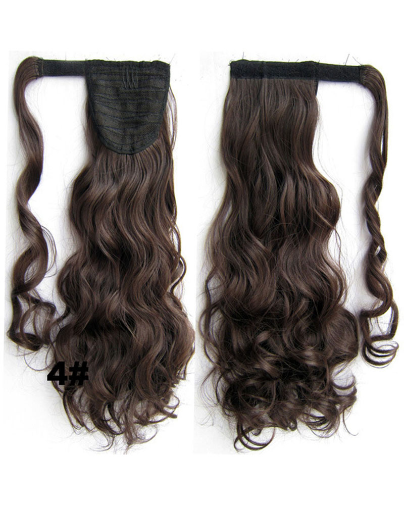 22 Inch Lady Vogue Curly and Long Wrap Around Synthetic Hair Ponytail 4#