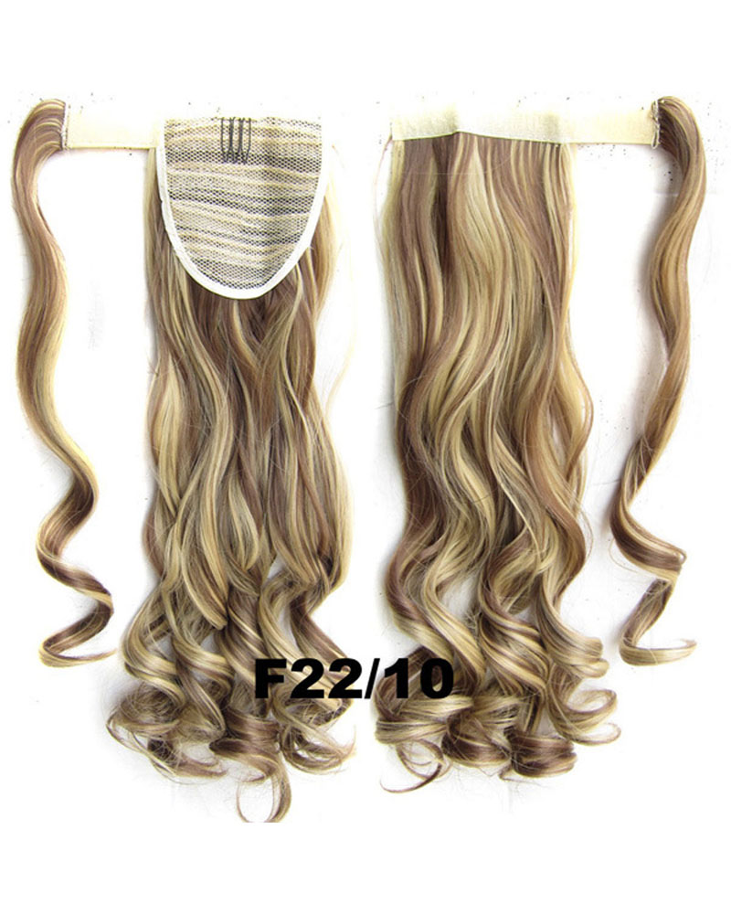 22 Inch Lady Well-done Curly and Long Wrap Around Synthetic Hair Ponytail F22/10
