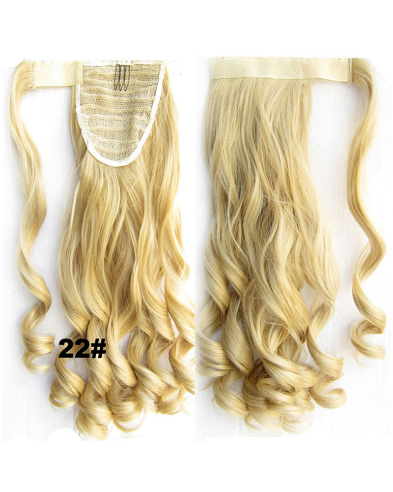 22 Inch Lady Winningly Curly and Long Wrap Around Synthetic Hair Ponytail 22#