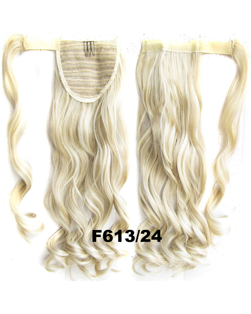 22 Inch Lady Wonderful  Curly and Long Wrap Around Synthetic Hair Ponytail F613/24