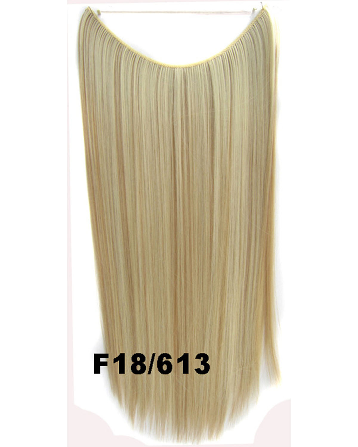 22 Inch Lady Wonderful Straight long One Piece Miracle Wire Flip in Synthetic Hair Extension F18/613