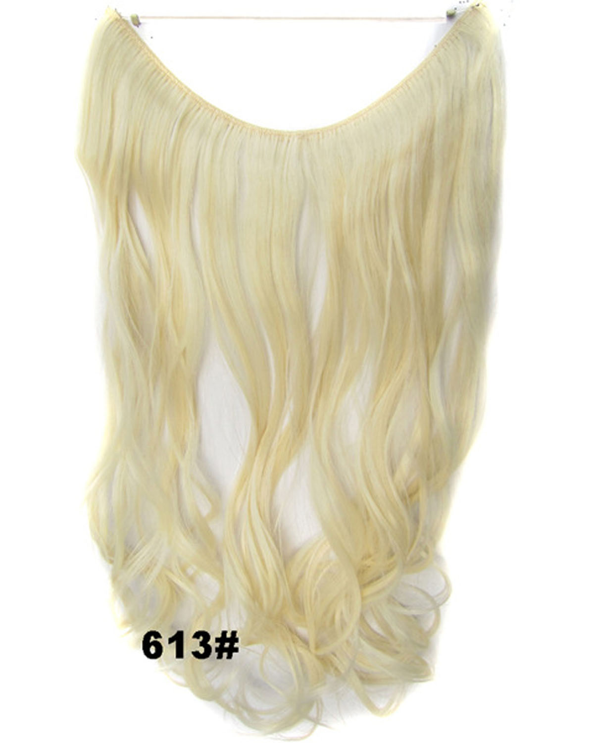 22 Inch Modernish Curly and Long Miracle One Piece Miracle Wire Flip in Synthetic Hair Extension613#
