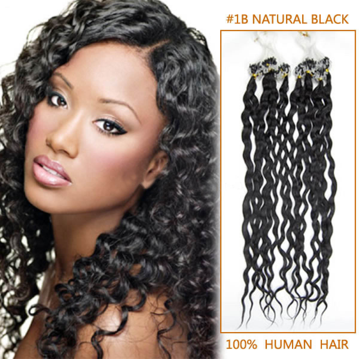 Inch sophisticated 1b natural black curly micro loop hair 22 inch sophisticated 1b natural black curly micro loop hair extensions 100 strands pmusecretfo Image collections
